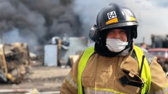 На Красносельском шоссе сгорела баня