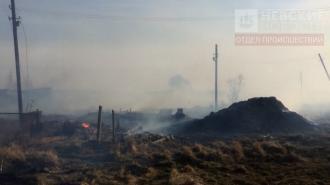 Пожар охватил несколько домов в Аннино