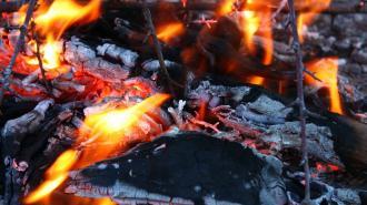 На улице Салова сгорела половина ангара