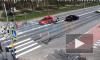 На перекрестке Светлановского проспекта и улицы Вернандского произошло ДТП с мотоциклистом