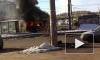 Очевидец снял горящую маршрутку в Самаре