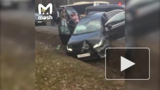 На Рублевке столкнулись шесть машин