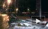Полет автомобиля за отбойник на Шафировском попал на видео