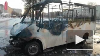 """Рядом со станцией метро """"Волковская"""" сгорела маршрутка"""