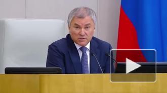 Володин: политическая система России доказала свою эффективность во время пандемии