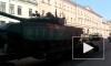 Видео: на Миллионной перед репетицией парада выстроилась военная техника