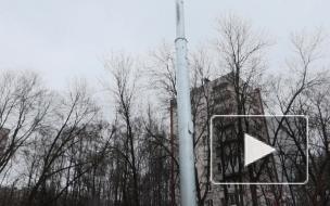 Жителей Калининского района напугала подозрительная вышка