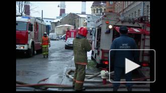 Серьезный пожар в Петербурге на Васильевском острове, есть жертвы