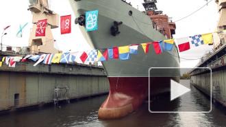 Суперсудно для разведки ВМФ спустили на воду в Питере