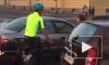 Видео: автовладелец затеял скандал на дороге с велосипедистом