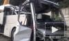 Под Новороссийском столкнулись и улетели в обрыв автобус с туристами и внедорожник