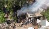 Появилось видео пожара на Черняховского с высоты птичьего полета