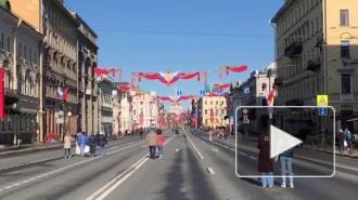 Невский проспект 9 мая перекрыли от Садовой до Дворцового проезда