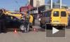 Жесткое видео из Астрахани: маршрутка с пассажирами перевернулась на бок