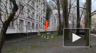 Видео: трехкомнатная квартира выгорела на улице Костюшко