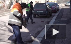 Городские службы избавляют Выборг от зимней грязи