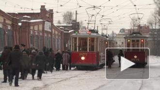 В Петербурге прошел парад блокадных трамваев