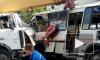 В Челябинске автокран протаранил три маршрутки и насмерть сбил пешехода