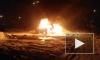 Очевидец снял горящий автомобиль в Архангельске
