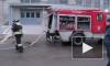 На Пулковском шоссе Daewoo Nexia сгорела дотла напротив базы МЧС