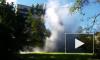 Появилось видео фонтанирующего прорыва трубы на улице Седова в Петербурге