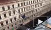 В Петербурге руфер сделал зарядку на проводах между домов