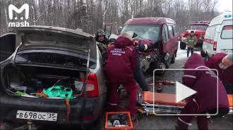 ВВологодской области три человека погибли вДТП смикроавтобусом ФСИН