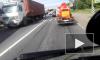 Жесткое столкновение маршрутки и фуры на Колпинском шоссе попало на видео