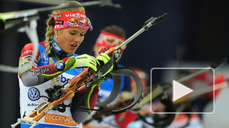 Победительницей гонки преследования на Кубке мира по биатлону стала Дарья Домрачева