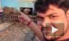 Шокирующие кадры из Индии: Парня сбил поезд на фоне которого он делал видеоселфи (18+)
