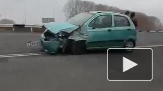Появилось видео массовой аварии на въезде в Кемерово