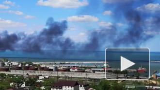 В Дагестане на территории нефтебазы загорелся резервуар с мазутом