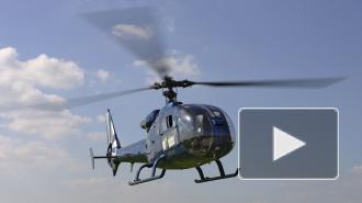 Видео опасных маневров вертолета, который упал в Финский залив 19 сентября попало в сеть