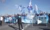 Фанаты «Зенита» по пути на «Петровский» раскачали Дворцовый мост