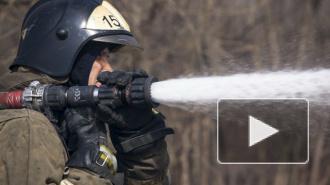 В Петербурге горело здание автомойки, огонь тушили три пожарных расчета