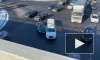 Свадебный лимузин столкнулся с легковушкой на Витебском проспекте