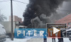 Видео крупного пожара: в Петербурге загорелся автосервис