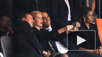 Обама и Кэмерон всласть повеселились на похоронах Манделы