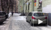 Петербуржец заснял на видео уборку сосулек и побитые авто