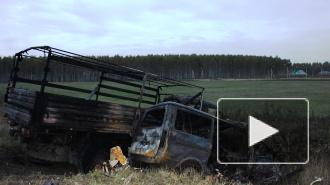 Появилось видео страшного ДТП в Вязниках, где сгорели 7 человек
