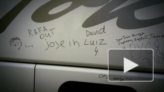 Российские фанаты разрисовали автобус Челси