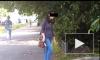 Петербурженка с яйцами изуродовала машину бывшего, но попалась на видео