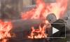 На Митрофаньевском шоссе сгорела легковушка