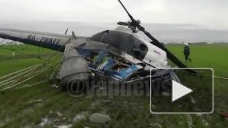 Вертолет совершил жесткую посадку на Кубани