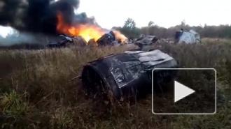 В сети появилось видео с места падения МиГ-29 в Подмосковье