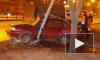 На Софийской Daewoo влетела в столб, водителя пришлось вырезать из салона