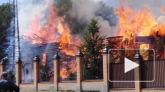 Под Курганом сгорела деревянная старинная церковь мужского монастыря