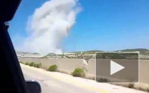 Авиаудар по турецкой колонне в Сирии попал на видео