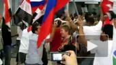 Встреча российских туристов в Египте