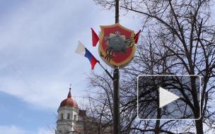 Видео: центр Выборга украсили накануне Дня Победы
